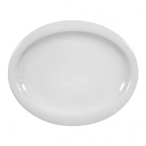 Speiseteller oval 29x24 cm 00003 weiss Top Life
