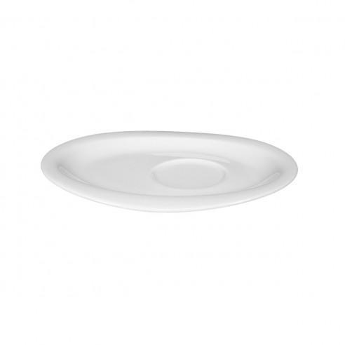 Kombi-Untertasse oval 16x13 cm 00003 weiss Top Life
