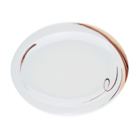 Frühstücksteller oval 25x20 cm 23434 Top Life