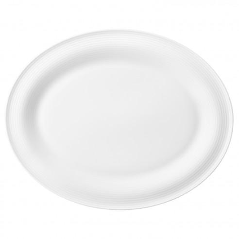 Servierplatte oval 35x28 cm 00003 weiss Beat
