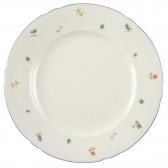 Platte rund flach 30 cm - Marieluise elfenbein Streublume 30308