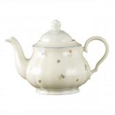 Teekanne 1,10 l - Marieluise elfenbein Streublume 30308