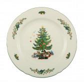 Frühstücksteller rund 20 cm - Marieluise elfenbein Weihnachten 43607