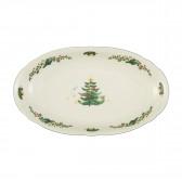 Servierplatte oval 23,5x14 cm - Marieluise elfenbein Weihnachten 43607