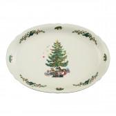 Servierplatte oval 34x26 cm - Marieluise elfenbein Weihnachten 43607