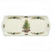 Kuchenplatte eckig 34,5x15 cm - Marieluise elfenbein Weihnachten 43607