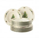 Tafelservice 12-teilig - Marieluise elfenbein Weihnachten 43607