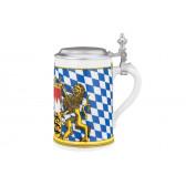 Bierkrug mit Deckel 408  0,75 l - Zusatzsortiment Bayern 24889