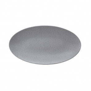 Servierplatte oval 33x18 cm - Life Fashion elegant grey 25675