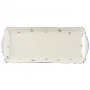 Kuchenplatte eckig 34,5x15 cm - Marieluise elfenbein Streublume 30308