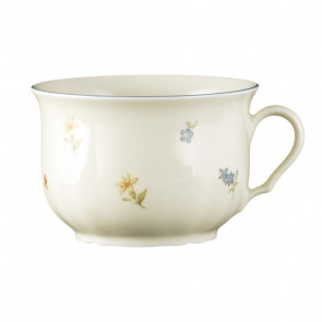 Milchkaffeeobertasse 0,37 l - Marieluise elfenbein Streublume 30308
