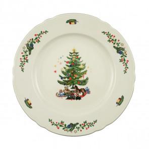 Platte rund flach 30 cm - Marieluise elfenbein Weihnachten 43607