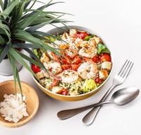 Foodbowl der Porzellanserie Life »Amber Gold« mit leckeren Zutaten