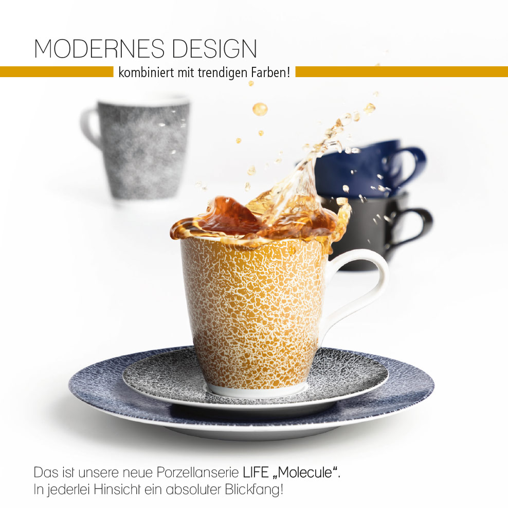 Porzellanserie Life »Molecule«: Modernes Design, trendige Farben, absoluter Blickfang