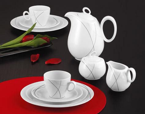 Kaffeegeschirr der Porzellanform Trio von Seltmann Weiden