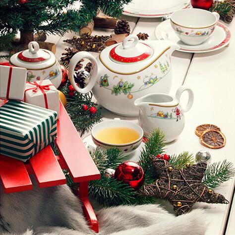 Der Porzellandekor Weihnachten auf unserer Form Trio