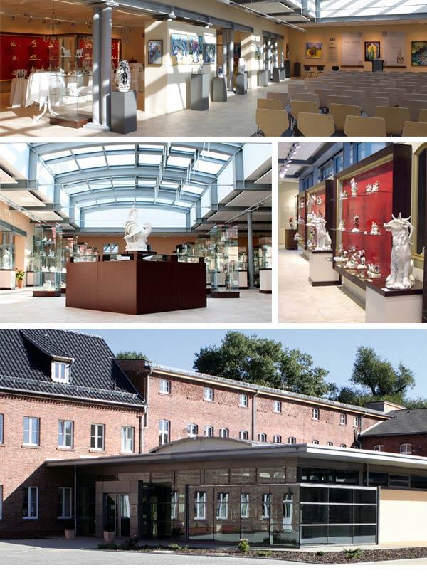 Innen- und Außenansichten der Gläsernen Porzellanmanufaktur in Rudolstadt