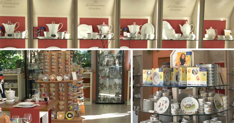 Verschiedene Porzellanserien im Werksverkauf Erbendorf
